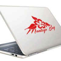 Montego Bay Hibiscus Flower Vinyl Laptop Macbook Decal Sticker