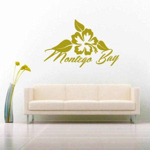 Montego Bay Hibiscus Flower Vinyl Wall Decal Sticker