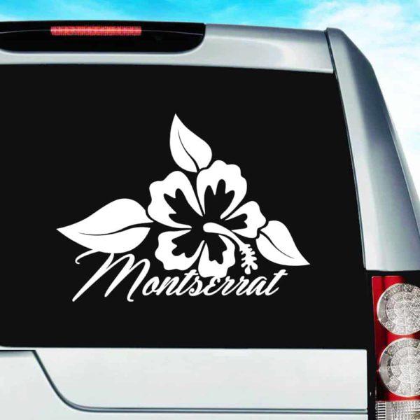 Montserrat Hibiscus Flower Vinyl Car Window Decal Sticker