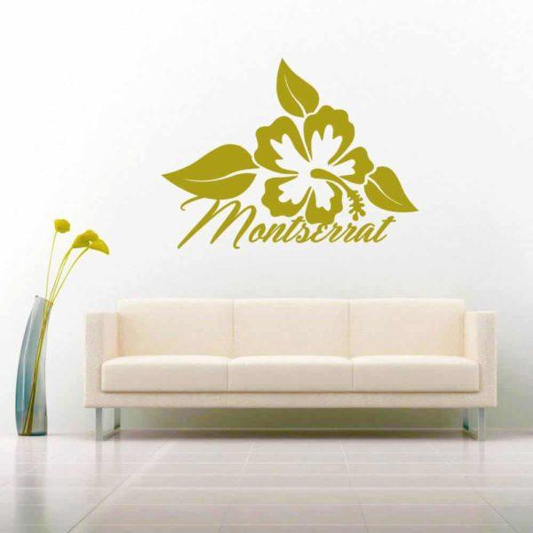 Montserrat Hibiscus Flower Vinyl Wall Decal Sticker