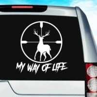 My Way Of Life Deer Hunting Scope Vinyl Car Window Decal Sticker
