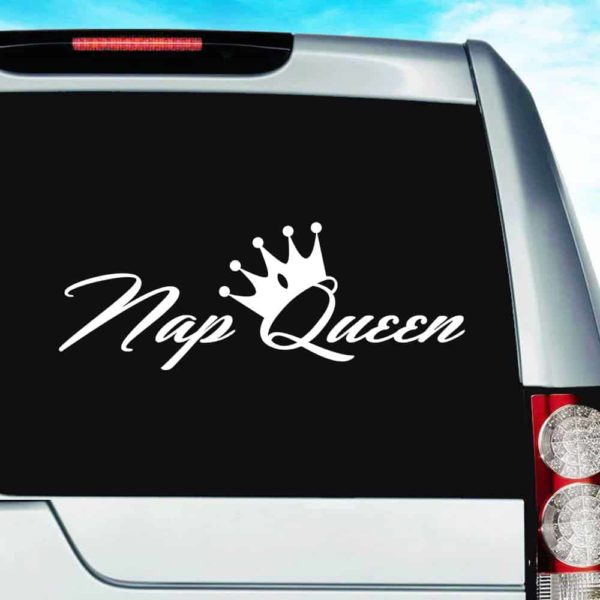 Nap Queen Vinyl Car Window Decal Sticker