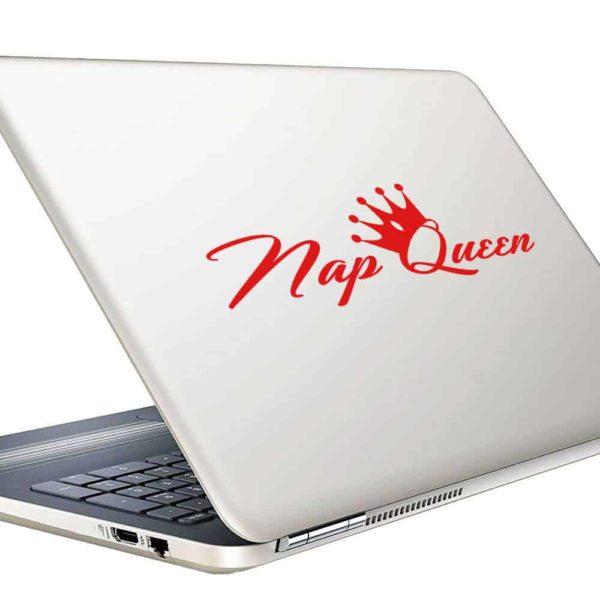 Nap Queen Vinyl Laptop Macbook Decal Sticker