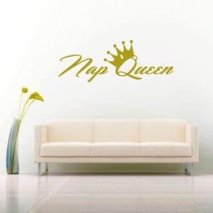 Nap Queen Vinyl Wall Decal Sticker