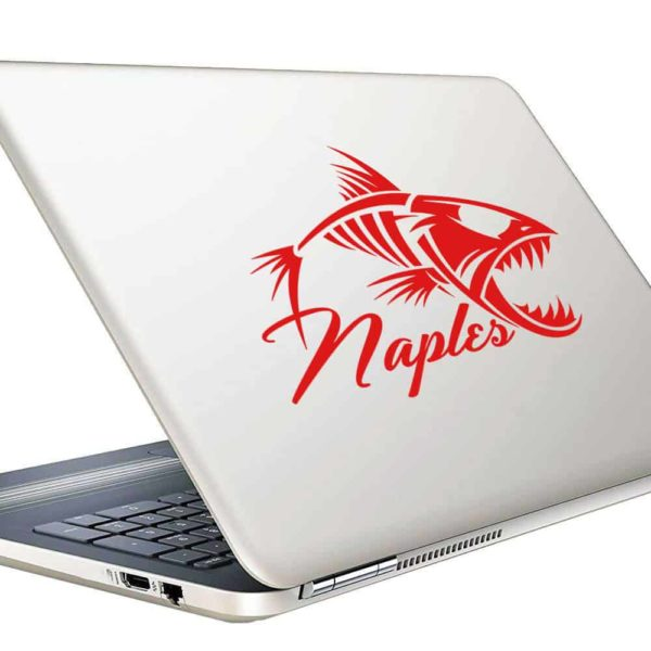 Naples Fish Skeleton Vinyl Laptop Macbook Decal Sticker
