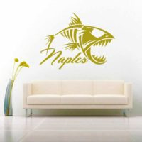 Naples Fish Skeleton Vinyl Wall Decal Sticker