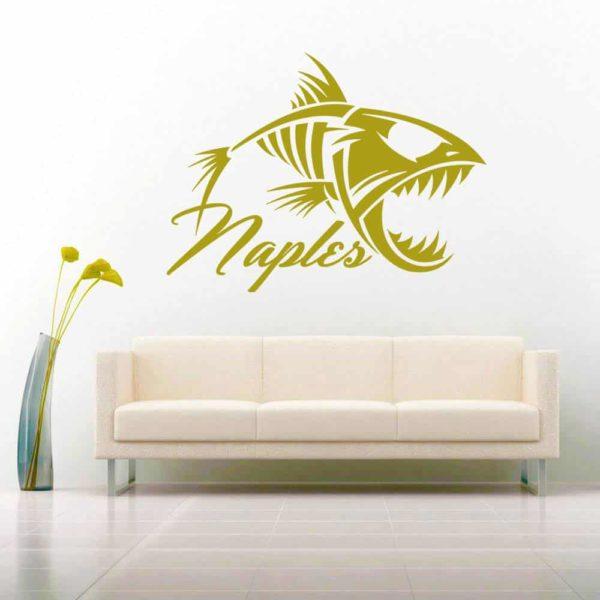 Naples Fish Skeleton Vinyl Wall Decal Sticker