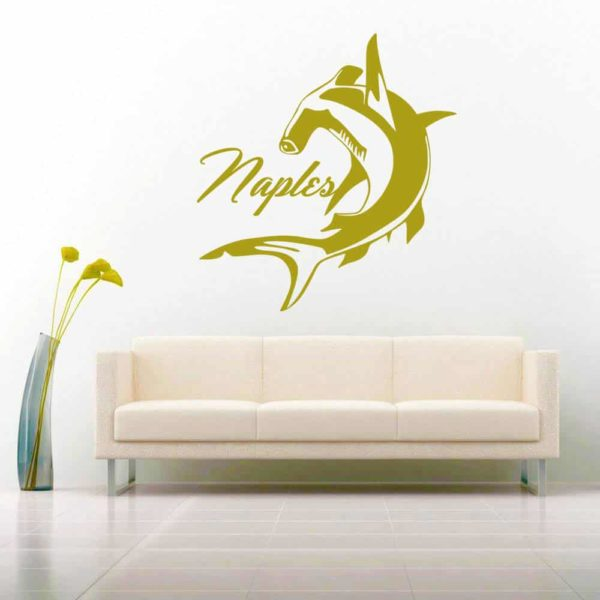 Naples Florida Hammerhead Shark Vinyl Wall Decal Sticker