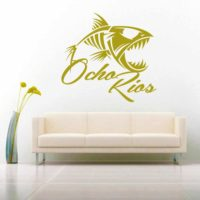 Ocho Rios Jamaica Fish Skeleton Vinyl Wall Decal Sticker