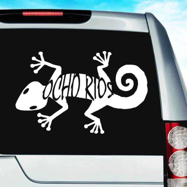 Ocho Rios Lizard Vinyl Car Window Decal Sticker