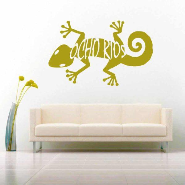 Ocho Rios Lizard Vinyl Wall Decal Sticker