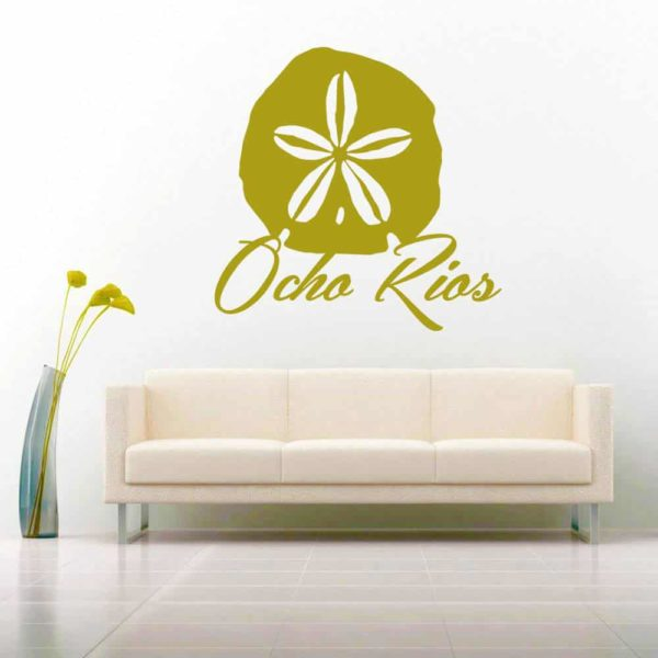 Ocho Rios Sand Dollar Vinyl Wall Decal Sticker