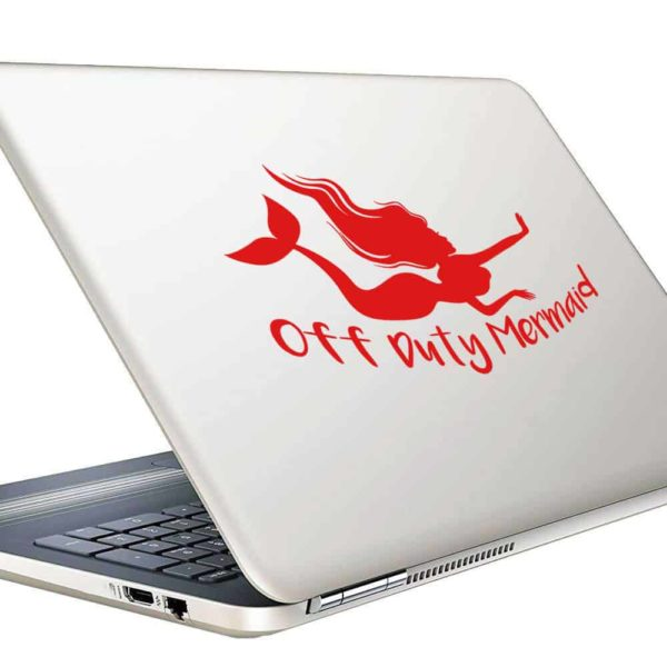 Off Duty Mermaid Vinyl Laptop Macbook Decal Sticker