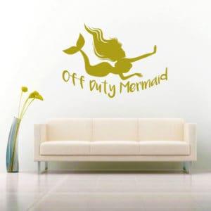 Off Duty Mermaid Vinyl Wall Decal Sticker