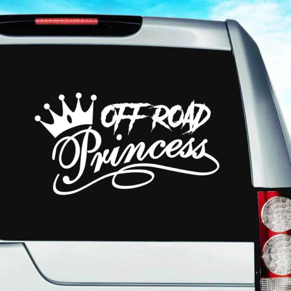 Off Road Princess Vinyl Car Window Decal Sticker