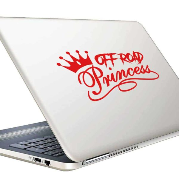 Off Road Princess Vinyl Laptop Macbook Decal Sticker