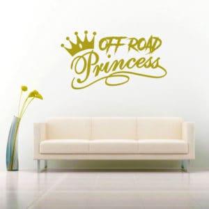 Off Road Princess Vinyl Wall Decal Sticker