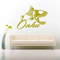 Ohau Hawaii Fish Skeleton Vinyl Wall Decal Sticker