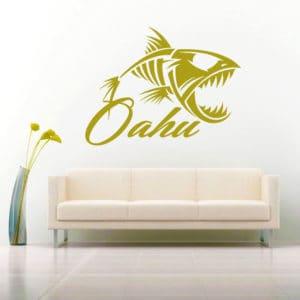 Ohau Hawaii Fish Skeleton Vinyl Wall Decal Sticker