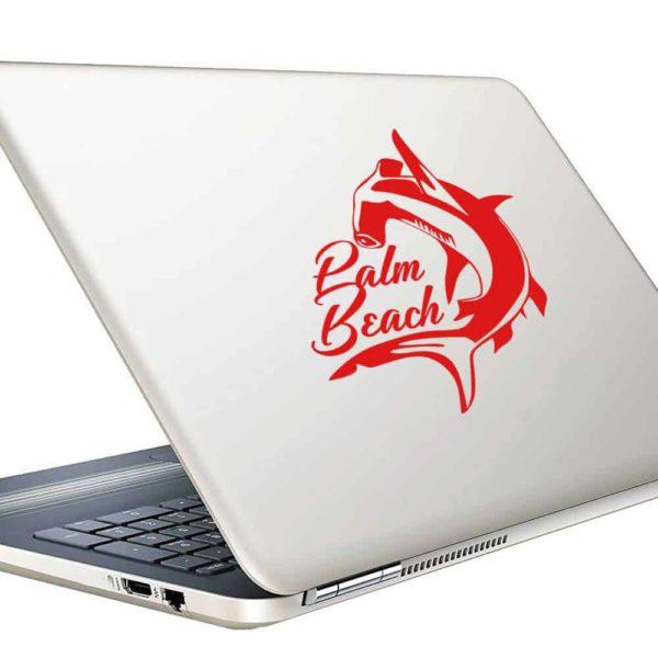 Palm Beach Florida Hammerhead Shark Vinyl Laptop Macbook Decal Sticker