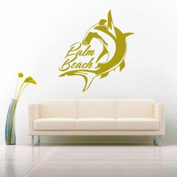 Palm Beach Florida Hammerhead Shark Vinyl Wall Decal Sticker