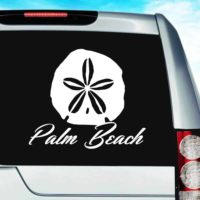 Palm Beach Florida Sand Dollar Vinyl Car Window Decal Sticker