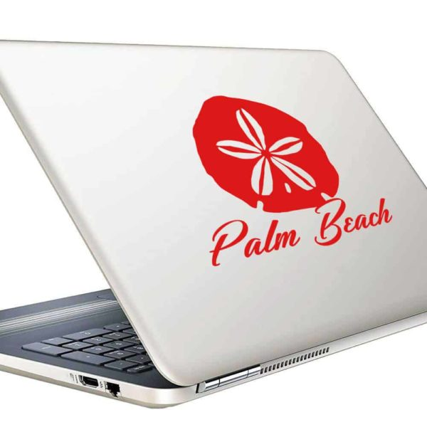 Palm Beach Florida Sand Dollar Vinyl Laptop Macbook Decal Sticker