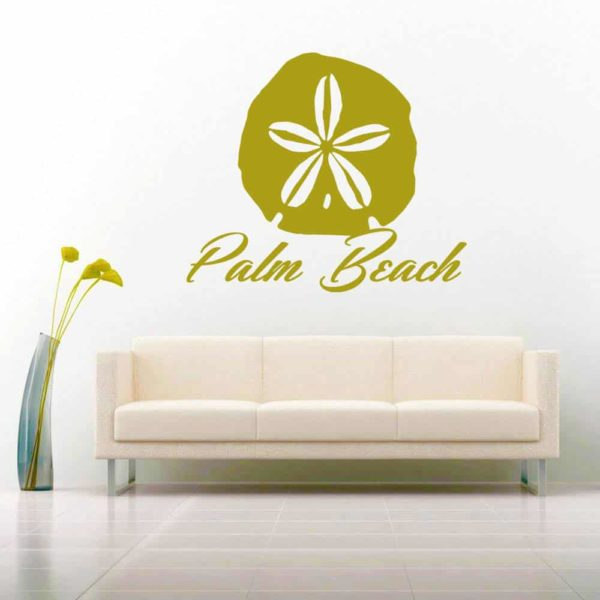 Palm Beach Florida Sand Dollar Vinyl Wall Decal Sticker