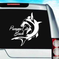 Panama City Beach Florida Hammerhead Shark Vinyl Car Window Decal Sticker