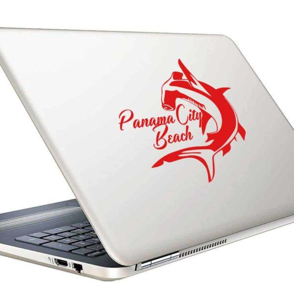 Panama City Beach Florida Hammerhead Shark Vinyl Laptop Macbook Decal Sticker