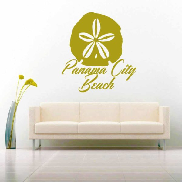 Panama City Beach Florida Sand Dollar Vinyl Wall Decal Sticker