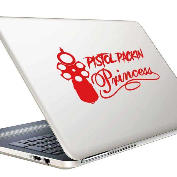 Pistol Packin Princess Vinyl Laptop Macbook Decal Sticker