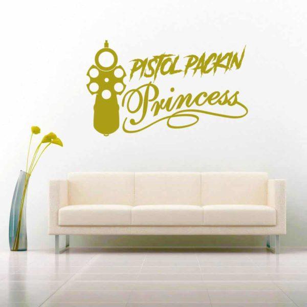 Pistol Packin Princess Vinyl Wall Decal Sticker