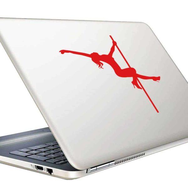 Pole Dancer Stripper Vinyl Laptop Macbook Decal Sticker