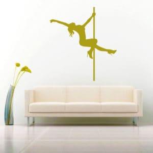Pole Dancer Stripper Vinyl Wall Decal Sticker