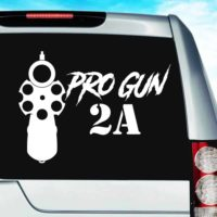 Pro Gun Second Amendment 2a Vinyl Car Window Decal Sticker