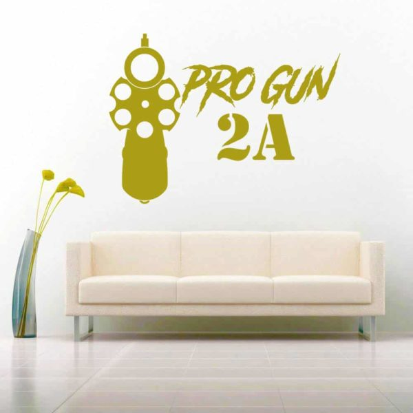 Pro Gun Second Amendment 2a Vinyl Wall Decal Sticker