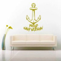 Proud Navy Veteran Anchor Vinyl Wall Decal Sticker
