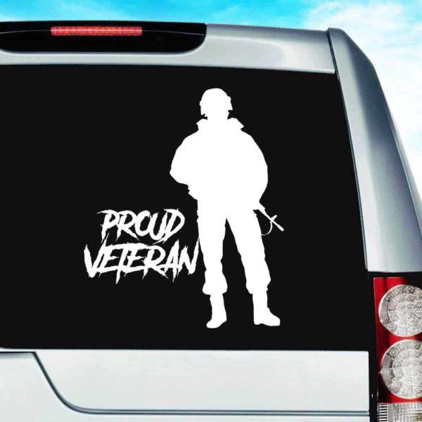 Proud Soldier Veteran Vinyl Car Window Decal Sticker