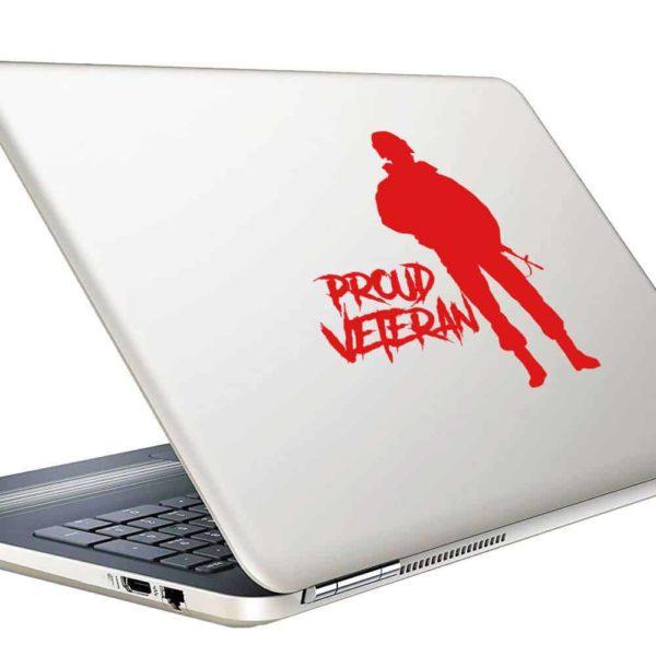 Proud Soldier Veteran Vinyl Laptop Macbook Decal Sticker