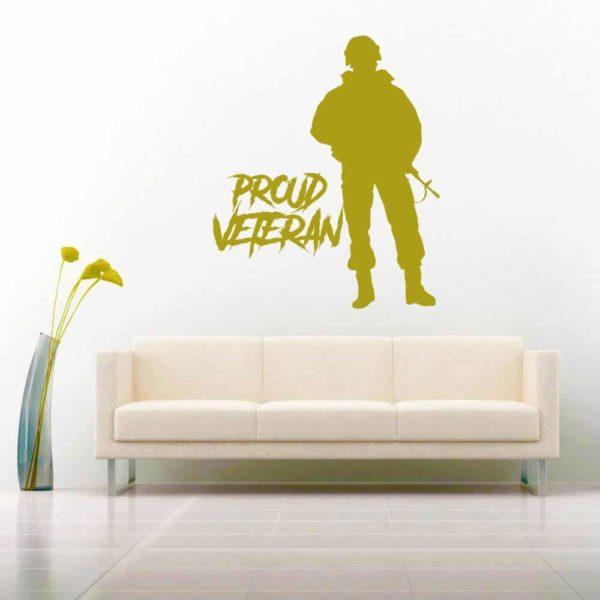 Proud Soldier Veteran Vinyl Wall Decal Sticker