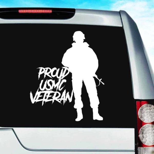 Proud Usmc Soldier Veteran Vinyl Car Window Decal Sticker