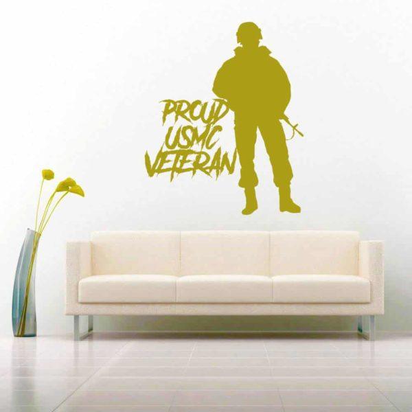 Proud Usmc Soldier Veteran Vinyl Wall Decal Sticker
