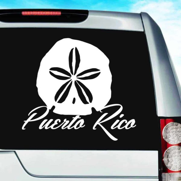 Puerto Rico Sand Dollar Vinyl Car Window Decal Sticker