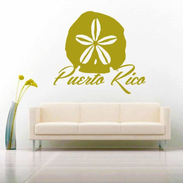 Puerto Rico Sand Dollar Vinyl Wall Decal Sticker