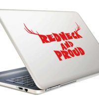 Redneck And Pround Antlers Vinyl Laptop Macbook Decal Sticker