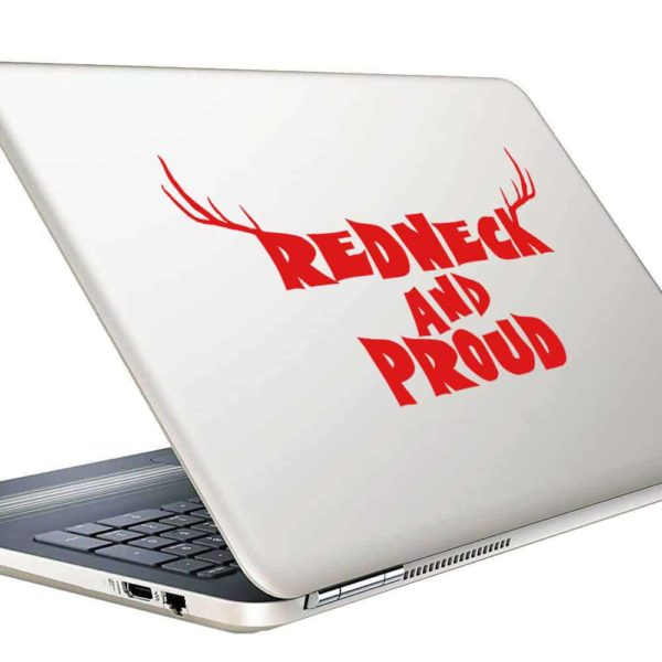 Redneck And Pround Antlers Vinyl Laptop Macbook Decal Sticker