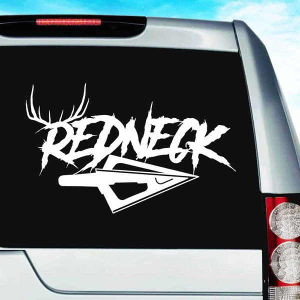 Redneck Antlers Arrow Tip Vinyl Car Window Decal Sticker