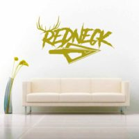 Redneck Antlers Arrow Tip Vinyl Wall Decal Sticker
