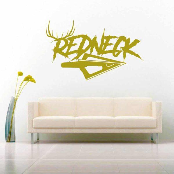 Redneck Antlers Arrow Tip Vinyl Wall Decal Sticker